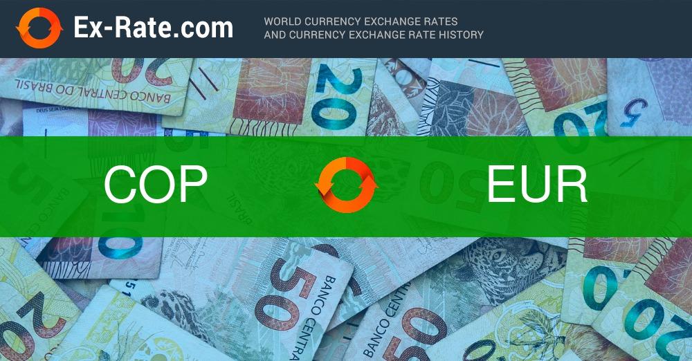 Wie viel sind 100000 Peso $ (COP) in € (EUR) zum heutigen Kurs