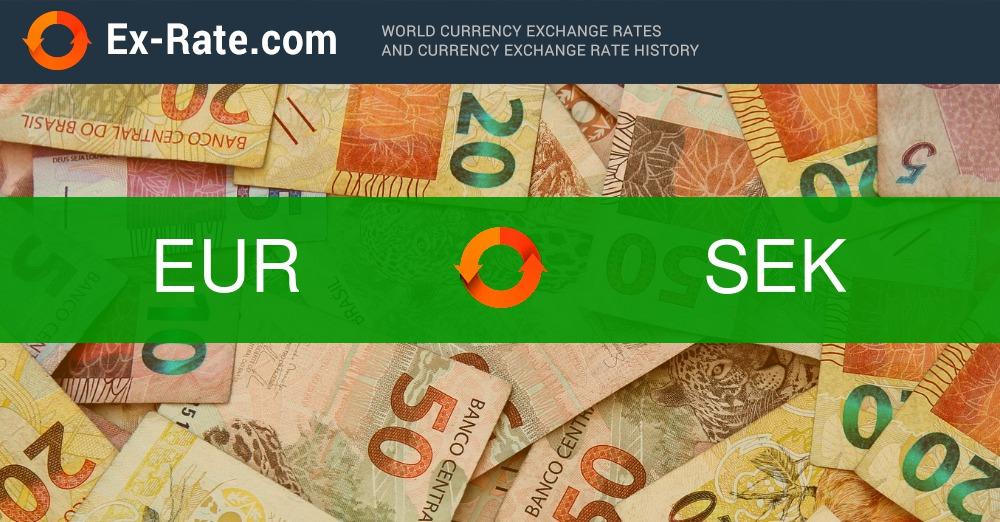 Wie Viel Sind 188 Euro Eur In Kr Sek Zum Heutigen Kurs