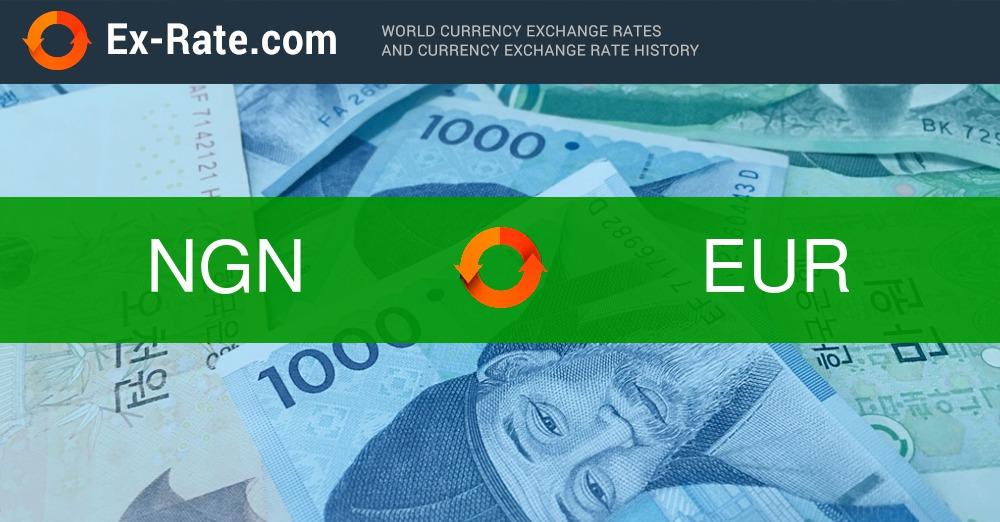 1000000 Naira Ngn In Eur